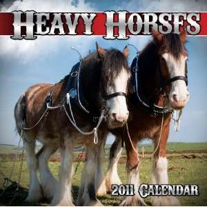 2011 Animal Calendars Heavy Horses   12 Month   30x30cm