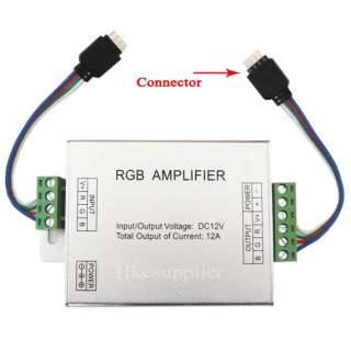 RGB SMD 5050 LED Strips Light Signal Amplifier 12V 12A