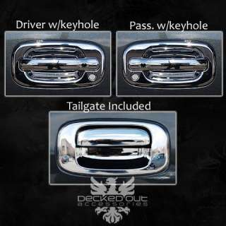 Chevy Silverado GMC Sierra Trucks 99 06 Chrome Door Handle Covers PLUS