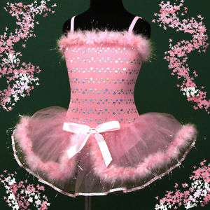 p011 r16 Pink Christmas Party Tutu Girls Dress 3,4,5 8y
