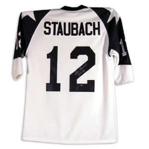 Roger Staubach Autographed Custom Style Jersey with HOF 78