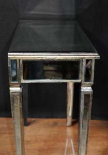 Pair Art Deco Mirror Side Tables Mirrored Occasional Table Furniture