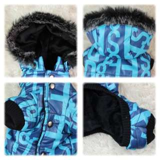 New Letter Cute Handsome Warm Winter Coat Clothes For Small Dog