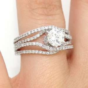 Rare 1.51ct Round Cut Diamond Engagement Wedding Ring 14k White Gold G