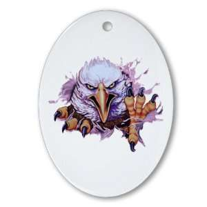 Ornament (Oval) Bald Eagle Rip Out