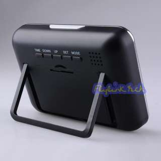 Multi Functional Table Clock Hidden Camera Mirror c521b