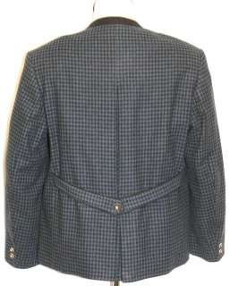 SALZBURGER BLUE BLACK WOOL German Winter Coat JACKET L