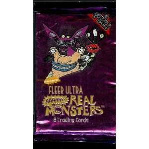 Ultra Real Monsters Trading Card Pack   8 cards per pack   One Monster