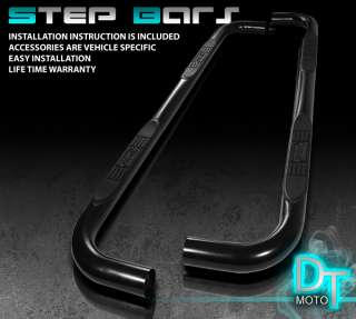 04 10 DODGE DURANGO 3 BLACK SIDE STEP NERF BAR RUNNING BOARD w