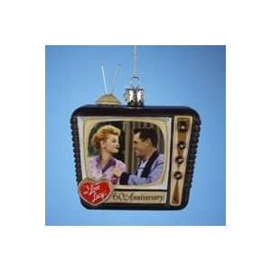 I LOVE LUCY Lucille Ball TV Set Glass Ornament 60th Ann