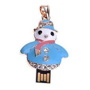 Delicate 4GB USB Flash Memory Drive Christmas Snowman U