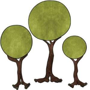 Monster TREES Wall Stickers Decals for Kids Room Wall
