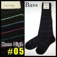 NEW Womens BASS Knee High Boots Stripe Socks Black 9 11