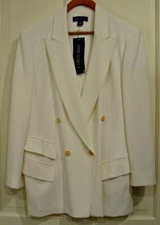 ANNE KLEIN II LADIES WHITE BLAZER JACKET SIZE 10 NWT