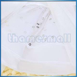 White Pet Dog Puppy Wedding Dress Gown Apparel Clothes