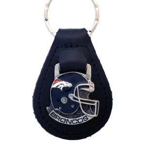 Denver Broncos NFL Small Leather Key Ring  Sports