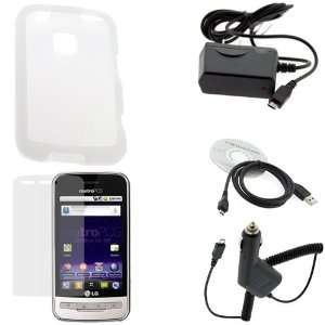 GTMax Clear Soft Silicone Case + Clear LCD Screen Protector + Car