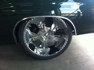 26 STARR HAMMER 770 CHROME Wheels RIMS+TIRES Package GMC