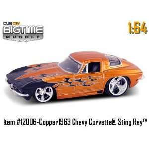 Dub City Big Time Muscle Metallic Orange 63 Chevy Corvette Sting Ray