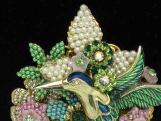 Magnificent STANLEY HAGLER Brooch Pin Hand Wired Beaded Figural Bird 3