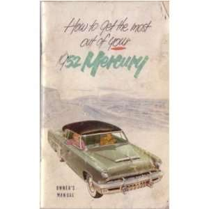 1952 MERCURY Full Line Owners Manual User Guide
