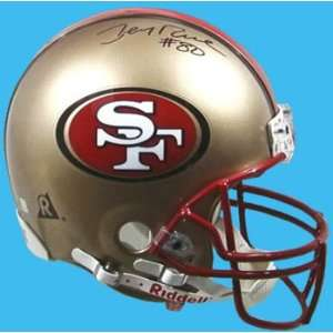 Jerry Rice Hand Signed 49ers Helmet