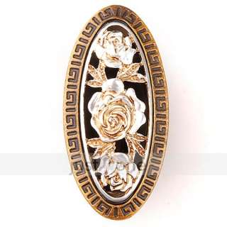 Vintage Style Carve Flowers Door Drawer Wardrobe Kitchen Cabinet Knob