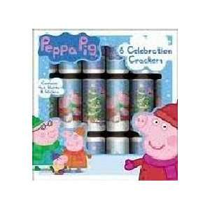 Peppa Pig 6 Celebration Crackers Christmas Toys & Games