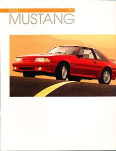 1993 Ford Mustang Deluxe Sales brochure Book GT