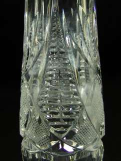 1930s ART DECO BOHEMIAN CUT CRYSTAL GLASS PEDESTAL VASE