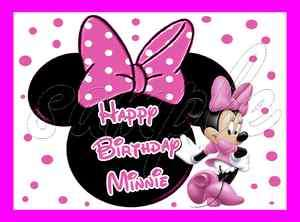 Minnie Mouse Frosting Sheet Edible Cake Topper 1/4 sheet