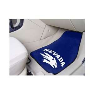 Nevada Wolf Pack 2 pc Printed Carpet Car Mat Set  Sports