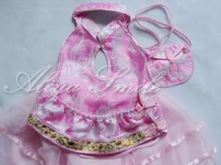 Pink Girls Birthday Party Wedding Dance Dress 2T 4T 5T