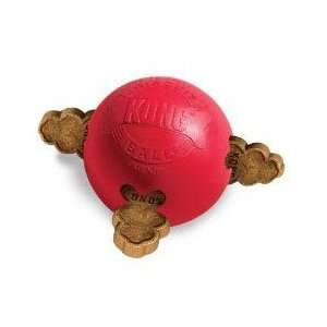 Kong Rubber Biscuit Ball Dog Toy small  4.38 x 2.75 x 4