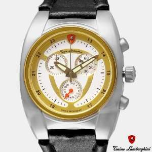 TONINO LAMBORGHINI Mens Chronograph Watch New Gold Plate