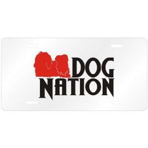 New  Shih Tzu Dog Nation  License Plate Dog