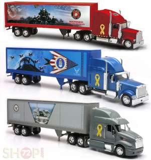 FORCE NAVY COMBO TRUCKS TRAILER SEMI LONG HAULER DIECAST 132