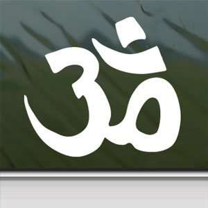 SYMBOL HINDU White Sticker Car Laptop Vinyl Window White Decal Arts