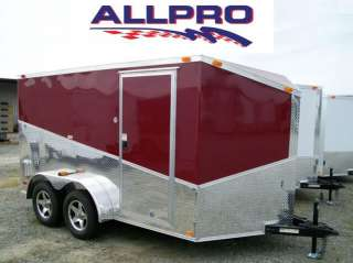 New 2012 7 x 16 V Nose Enclosed Cargo Trailer W Ramp For Bike Kart Why