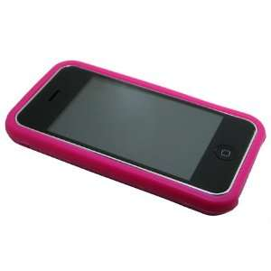 Hot Pink Silicone Soft Skin Case Cover for iPhone 3G