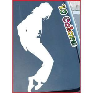 Michael Jackson Car Window Stickers 11 Tall (Color White)