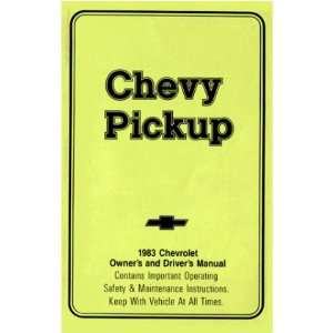 1983 CHEVROLET PICKUP TRUCK Owners Manual User Guide