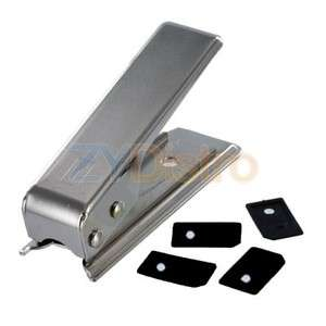 Micro Sim Card Cutter w/ 4 Black Sim Adapters for iPhone 4G 4S 4