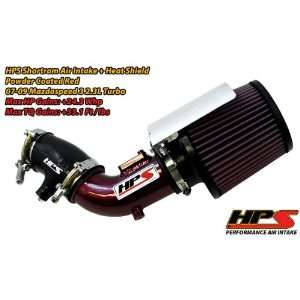 07 09 Mazda Mazdaspeed3 2.3L Short Ram Intake by HPS   Red