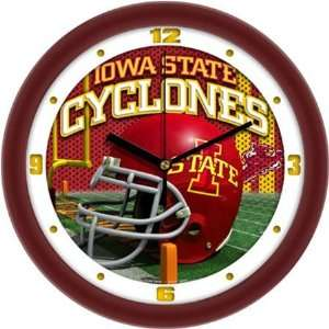 Iowa State Cyclones ISU NCAA Football Helmet Wall Clock