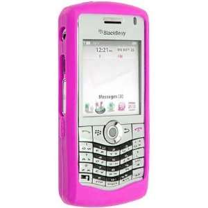 Blackberry Pearl 8130 Hot Pink Silicone Skin Case Office