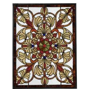 Art Glass Window Panel   med. rectangula, Multi