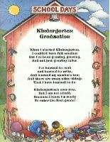 KINDERGARTEN Graduation Poem PERSONALIZED Print Name~