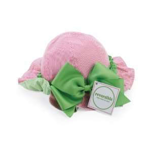 Baby Girls Sun Hat Reversible Pink and Green