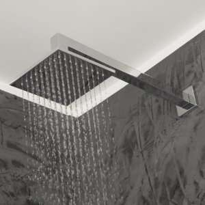 Wall Mount Tilting Square Rain Shower Head in Polish